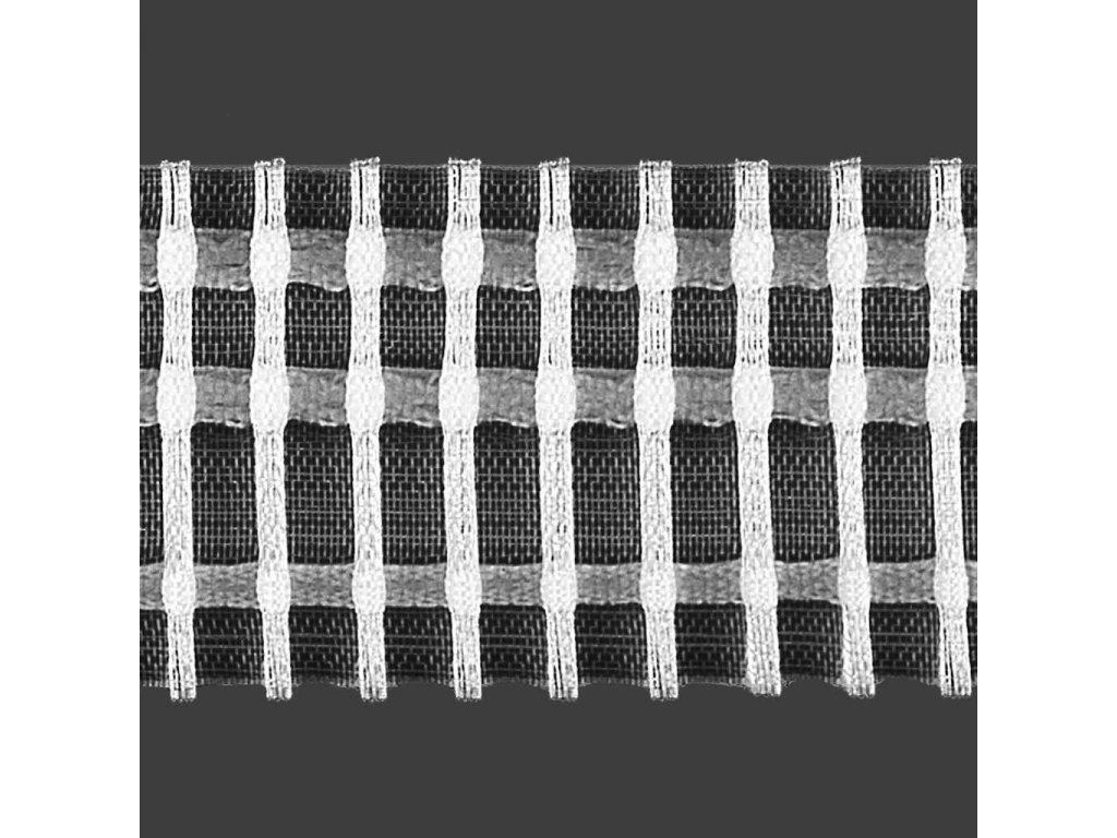 Řasící stuha 6506 1:2 šíře 50 mm bílá/transparentní