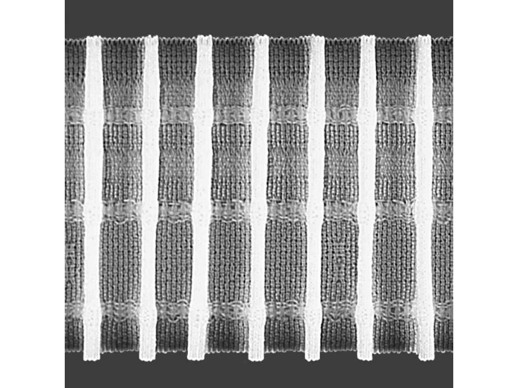 Řasící stuha 6476 1:2 šíře 50 mm bílá