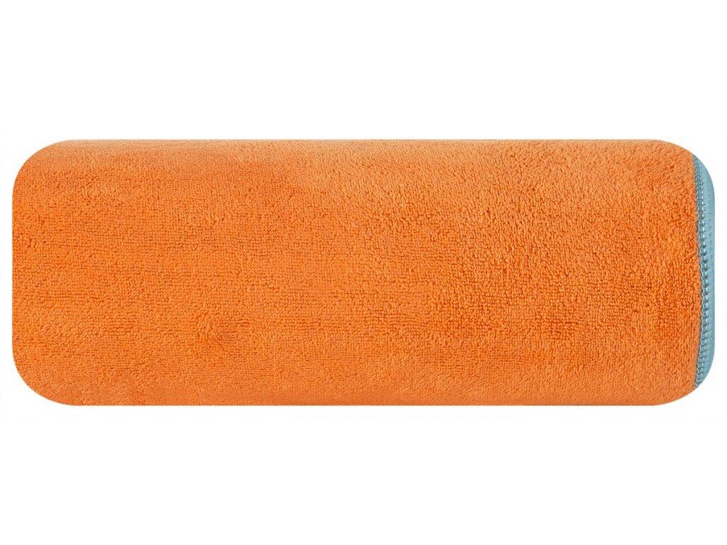 Rychleschnoucí osuška bez vzoru 80x160 cm 380g/m2 oranžová