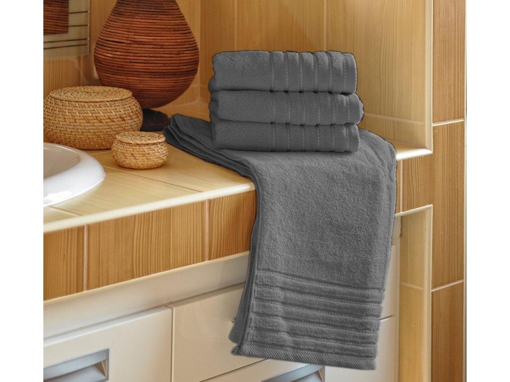 Ručník EMA 50x100 cm 500g/m2 tmavě šedý