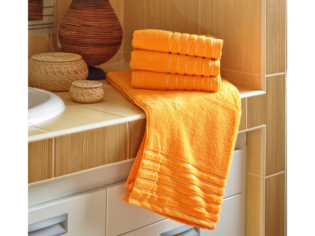 Ručník EMA 50x100 cm 500g/m2 oranžový