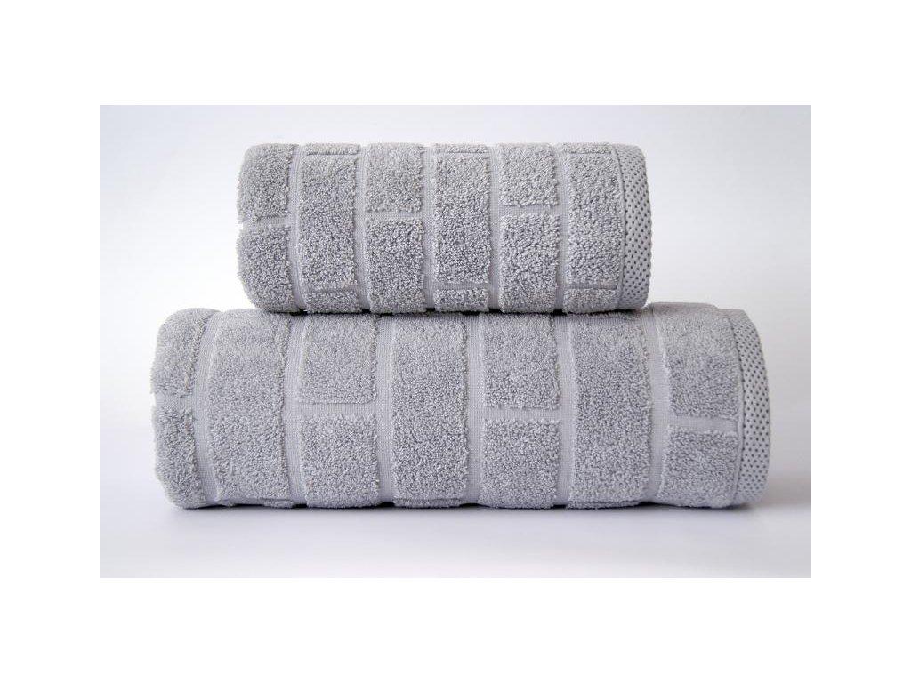 Ručník Brick 50x90 cm šedý