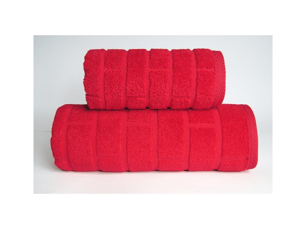 Ručník Brick 50x90 cm červený