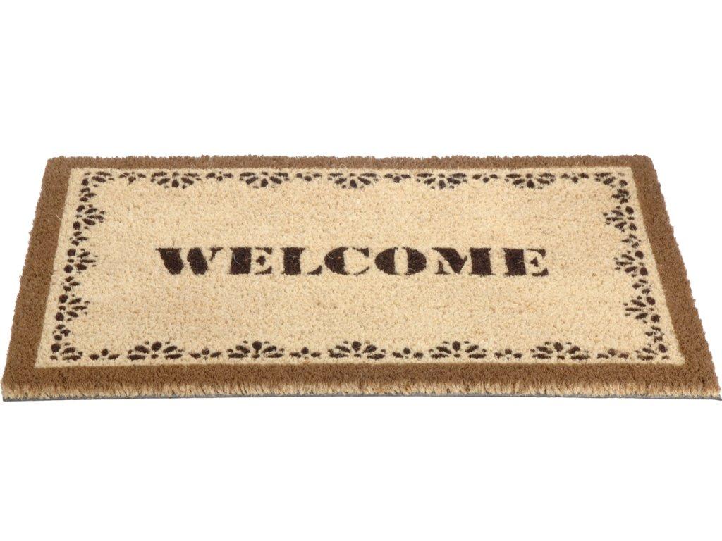 Rohožka s nápisem Welcome 40x60 cm odstíny hnědé tmavá