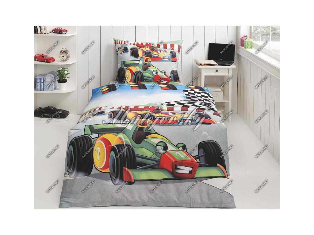 Povlečení Matějovský bavlna DELUXE Formule 70x90, 140x200 cm
