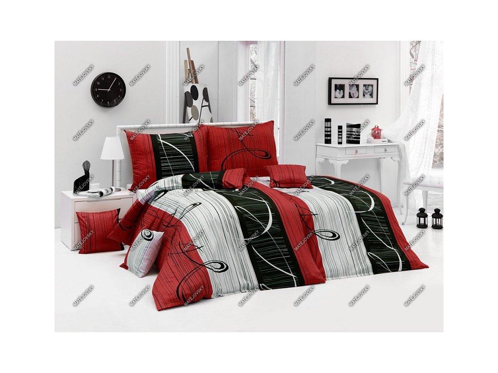 Povlečení Matějovský bavlna DELUXE Eternity RED 70x90, 140x200 cm
