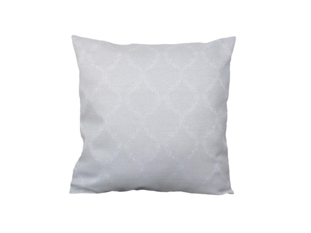 Povlak se zipovým uzávěrem 40x40 cm bílá/šedá