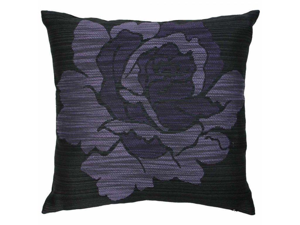 Povlak Fialový květ 45x45 cm černá/fialová
