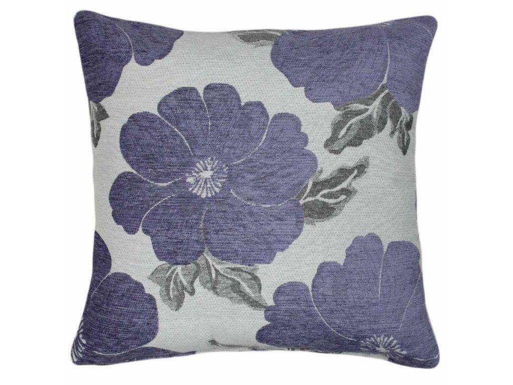 Povlak Emilia 45x45 fialová/šedá