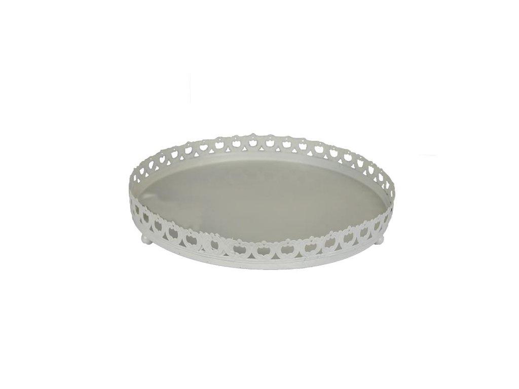 Podnos kovový K0155/V bílý