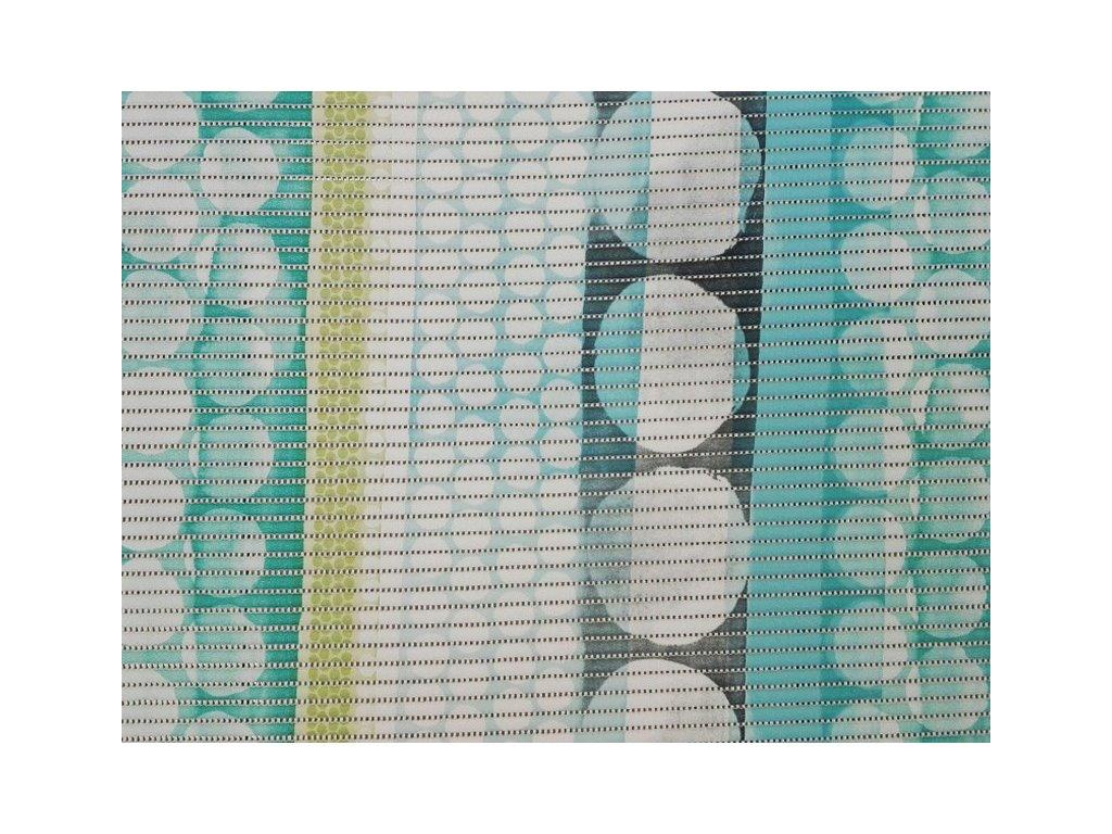 Pěnová podlahová krytina Sympatex č.2713176 šíře 65 cm bílá/tyrkysová/šedá