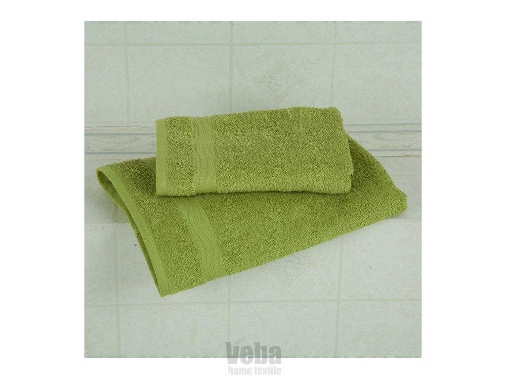 Osuška Veba Nora UNI 70x140 zelená