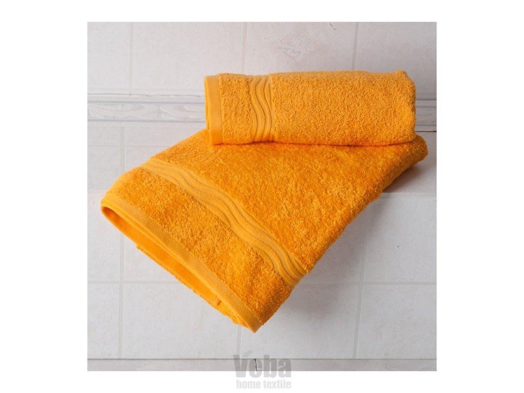 Osuška Veba Nora UNI 70x140 oranžová