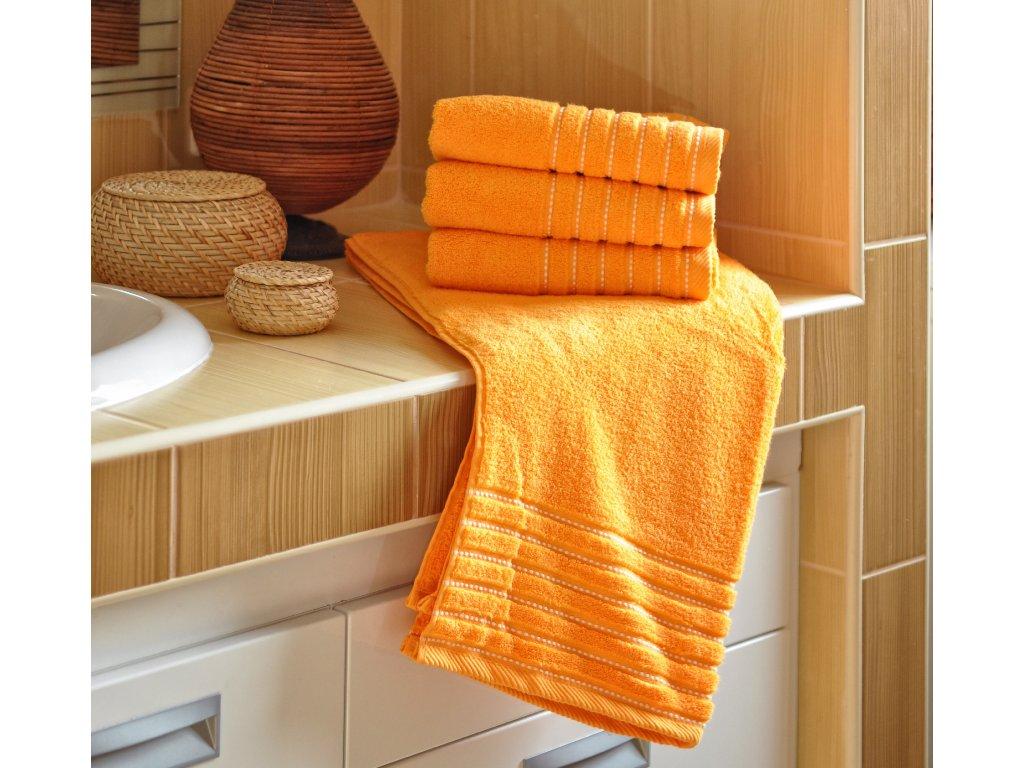 Osuška EMA 70x140 cm 500g/m2 oranžová
