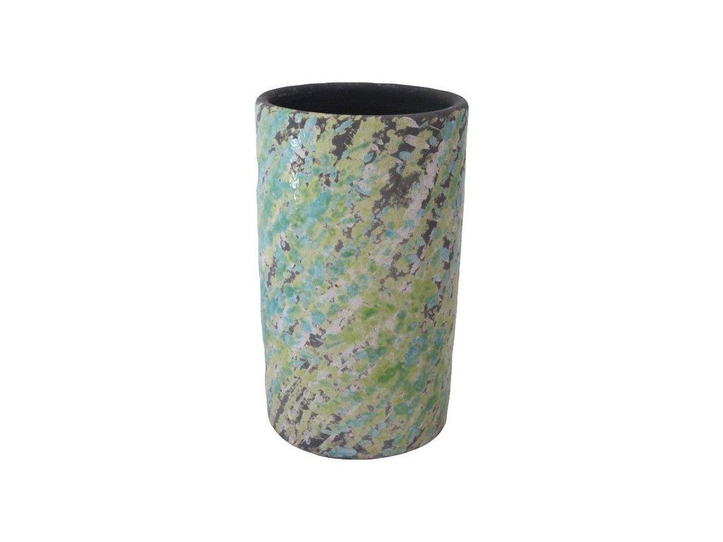 Obal na květináč 12x12x20 cm zelená/tyrkysová