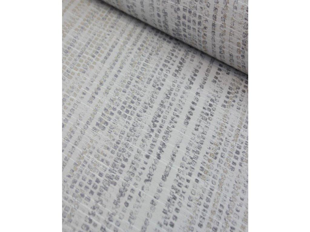 Moderní dekorační látka šíře 140 cm odstíny šedé a béžové