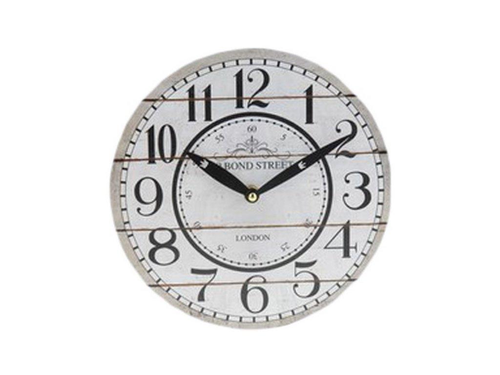 Malé nástěnné hodiny kulaté průměr 23 cm