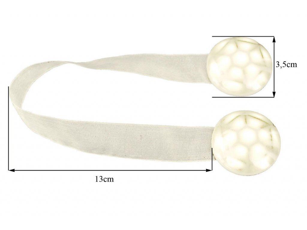 Magnet na závěsy 2 ks v balení smetanovvá/perleťová