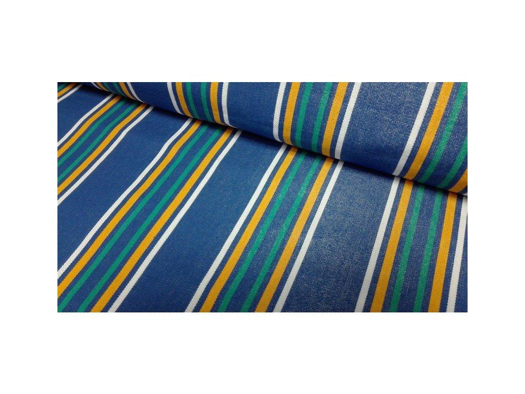 Lehátkovina pruhovaná šíře 60 cm modrá