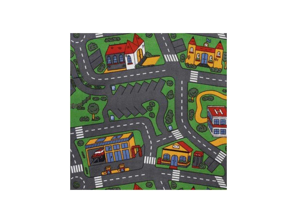 Kusový koberec Silnice