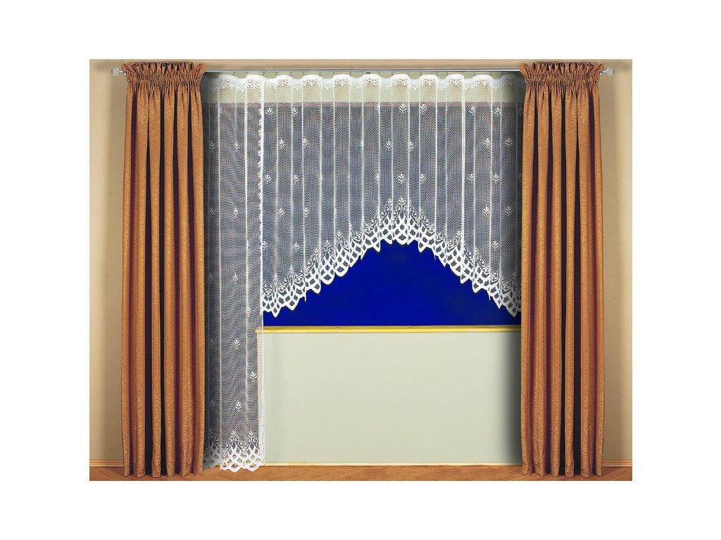 Kusová žakárová záclona Sandra bílá