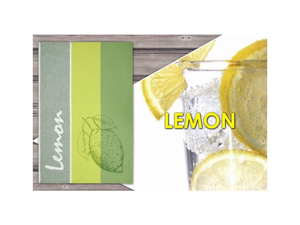 Kuchyňská utěrka Lemon 50x70 cm zelená