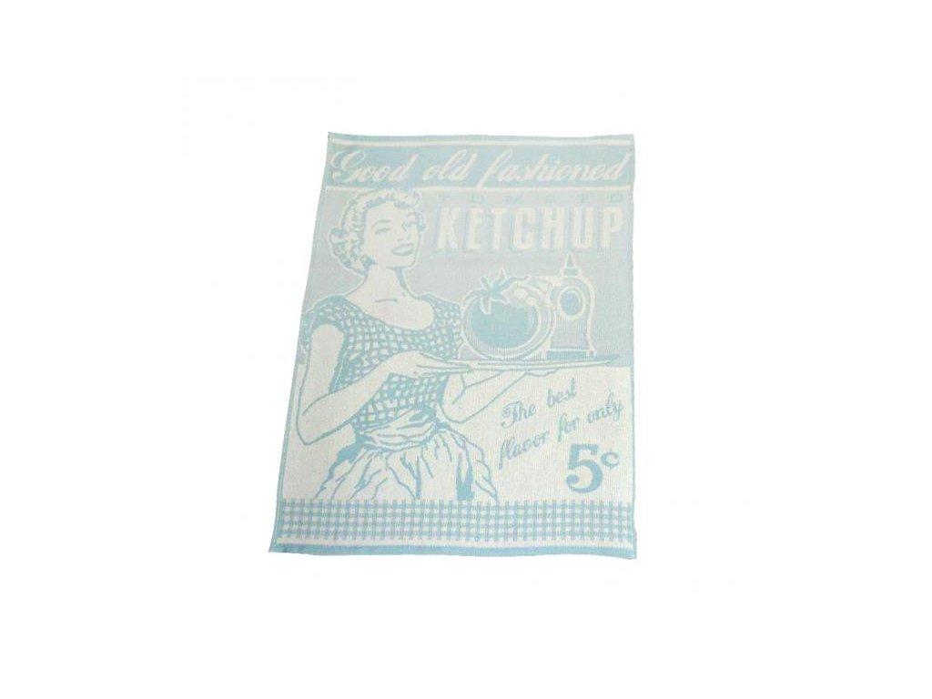 Kuchyňská utěrka Exclusive Vintage 50x70 cm tyrkysová