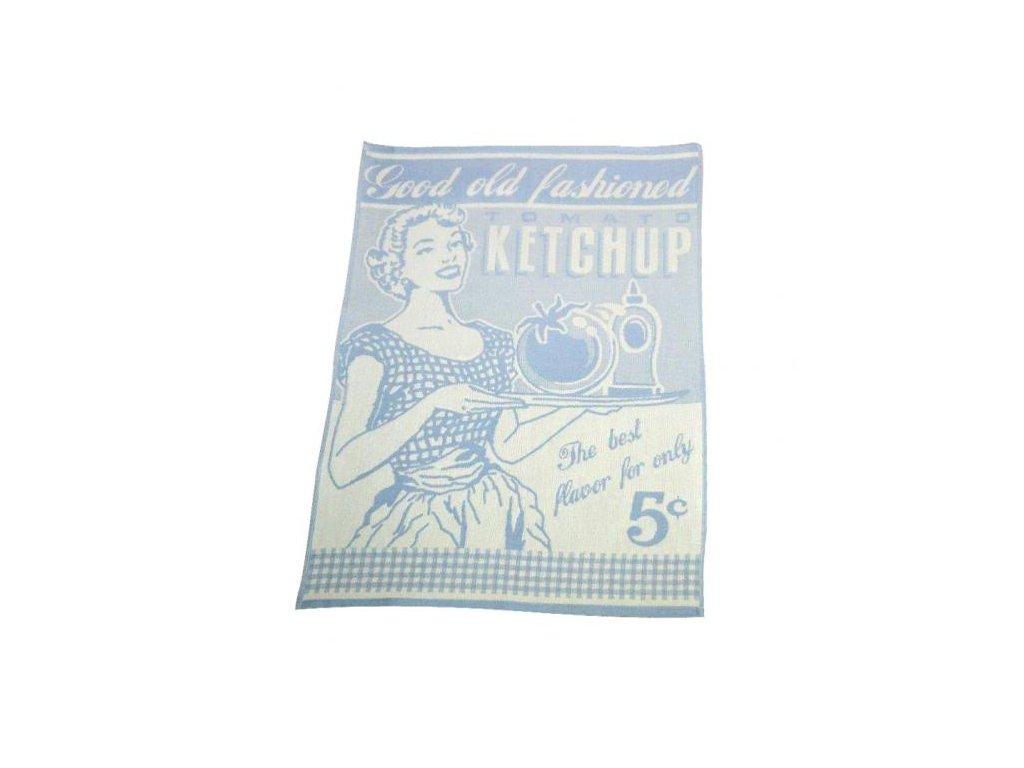 Kuchyňská utěrka Exclusive Vintage 50x70 cm modrá