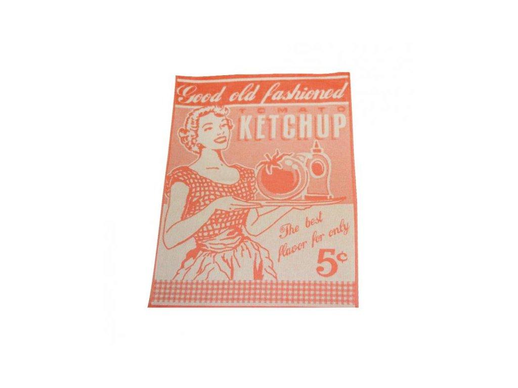 Kuchyňská utěrka Exclusive Vintage 50x70 cm korálová