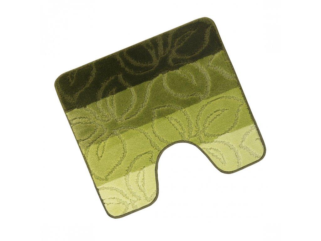 Koupelnová předložka s výřezem Elli 750/623 lípa zelená 50x60 cm