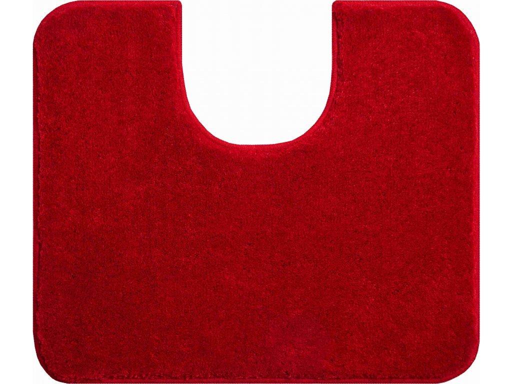 Koupelnová předložka Fantastic s výřezem 50x60 cm jednobarevná tmavě červená