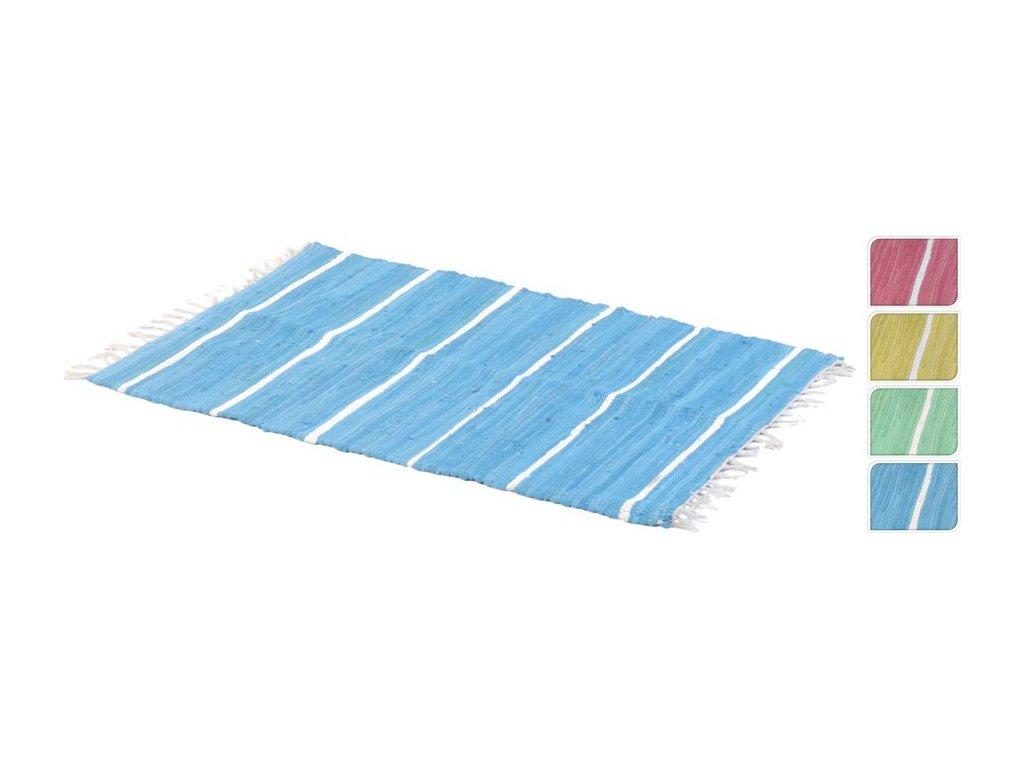 Kobereček s třásněmi 60x90 cm modrý
