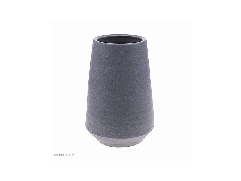Keramcká váza šedá 30 cm