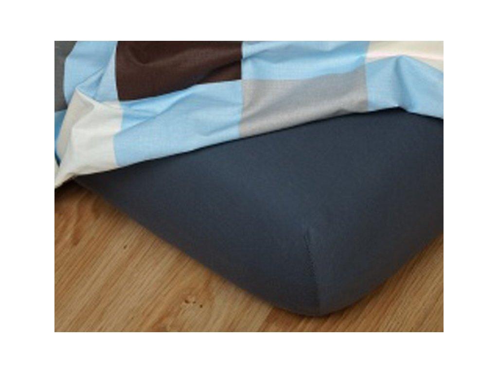 Jerseyové prostěradlo do gumičky 7-C 185g/m2 tmavě šedé