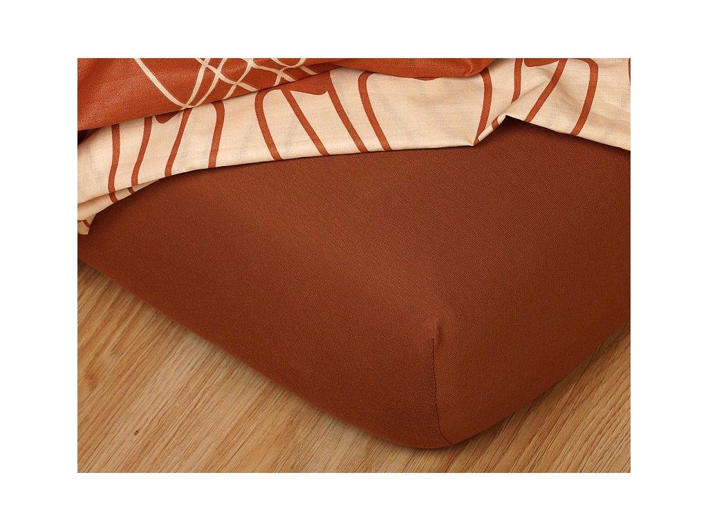 Jerseyové prostěradlo do gumičky 30-C 185g/m2 nugátové