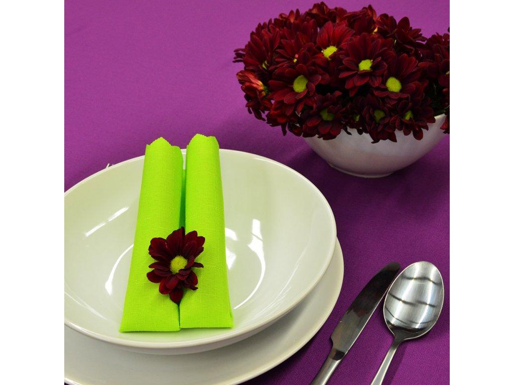 Jednobarevný teflonový ubrus Standard č.365 UNI tmavě fialový