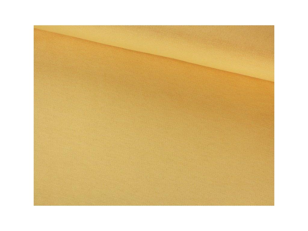 Jednobarevná dekorační látka šíře 140 cm žlutá