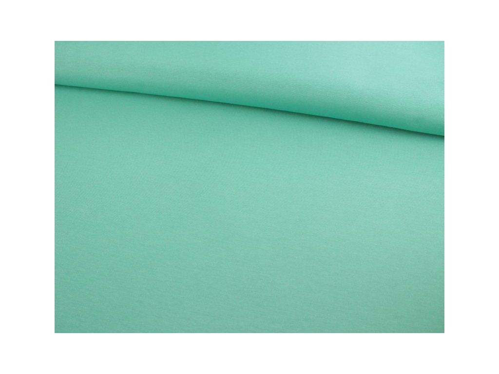 Jednobarevná dekorační látka šíře 140 cm tyrkysová