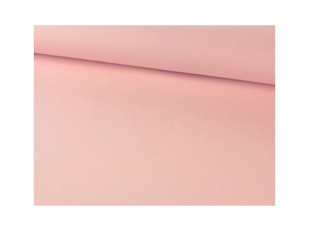Jednobarevná dekorační látka šíře 140 cm světle růžová