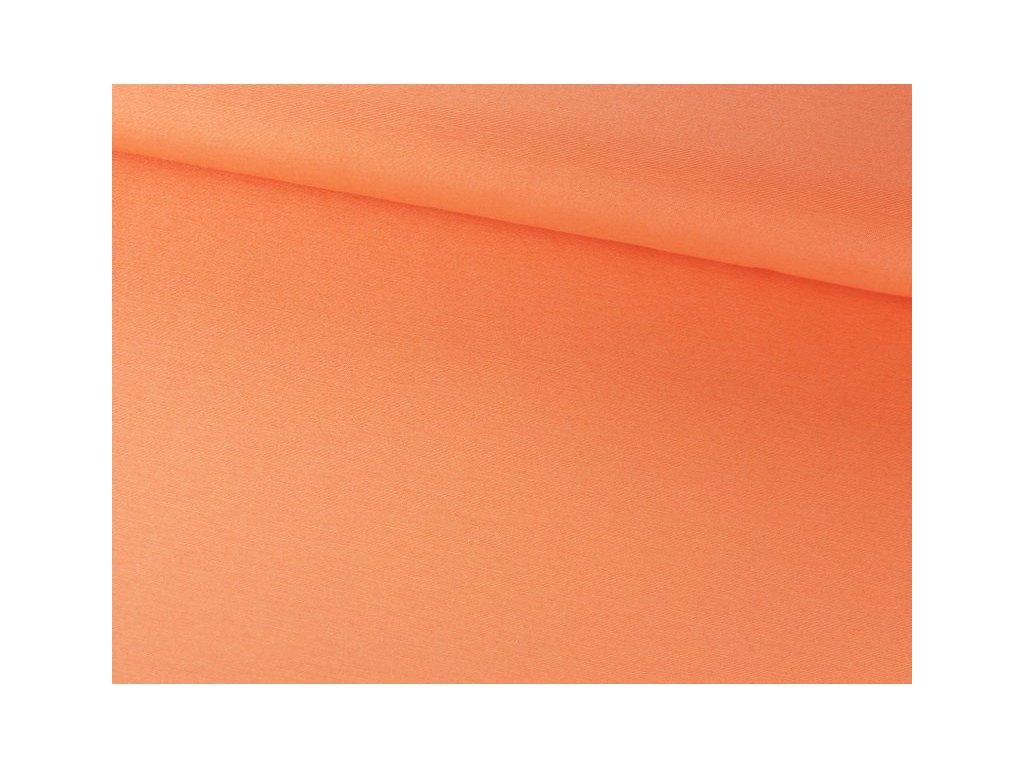 Jednobarevná dekorační látka šíře 140 cm oranžová