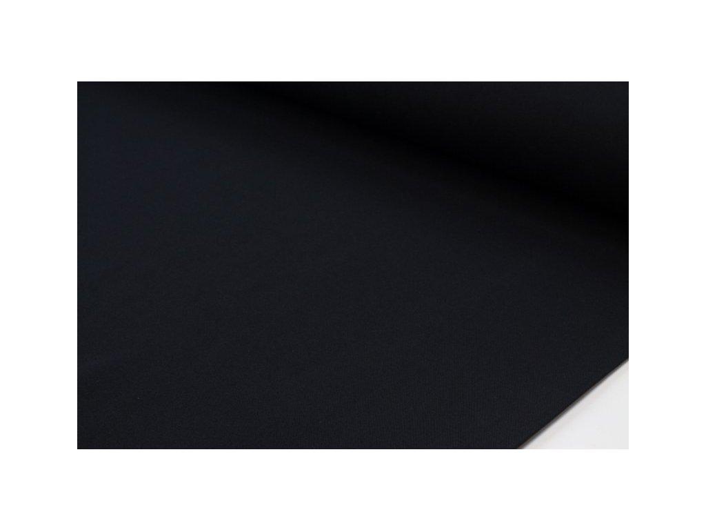 Jednobarevná dekorační látka šíře 140 cm černá