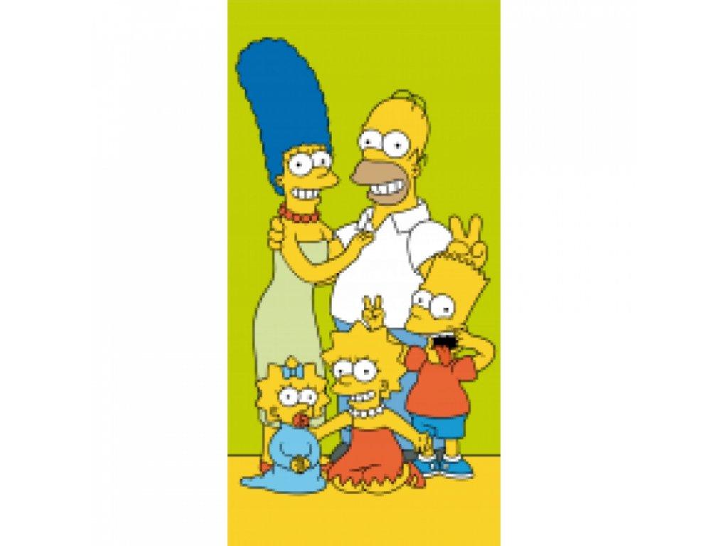 Froté osuška Simpsons family 70x140 cm