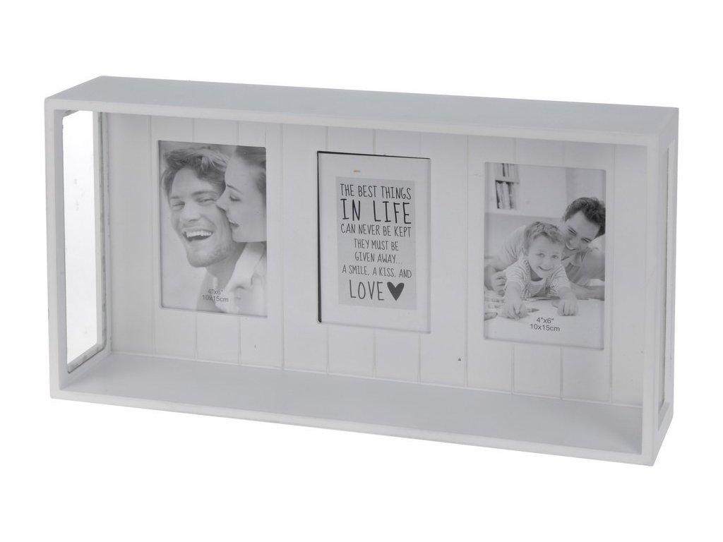 Fotorámeček 45x24x10 cm bílý