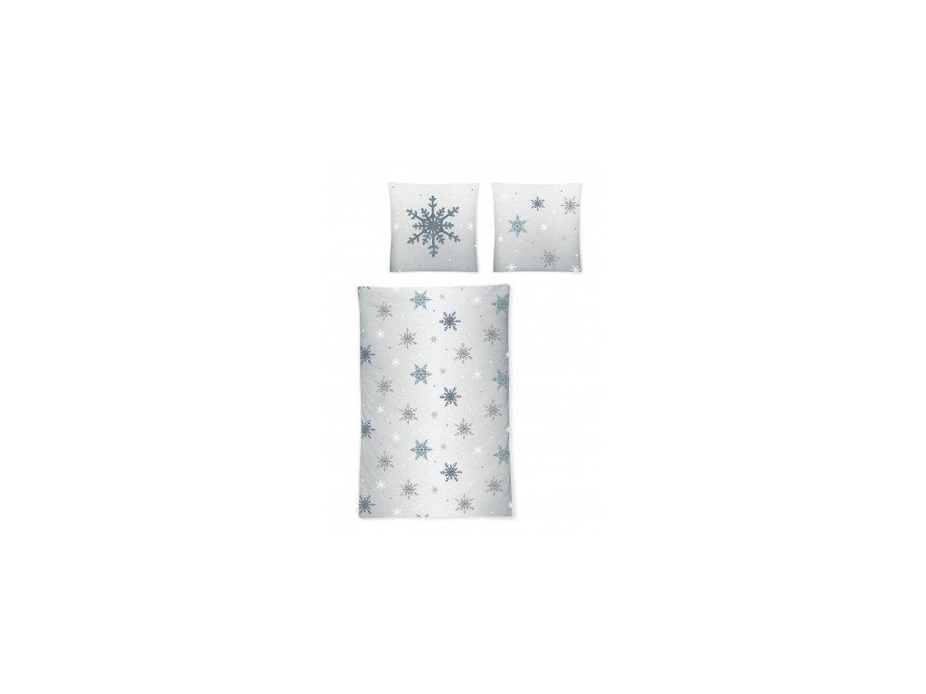 Flanelové povlečení IRISETTE Davos 8527/20 70x90, 140x220 cm