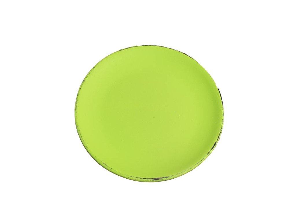 Dřevěný podnos kulatý D0767 22x2 cm zelený