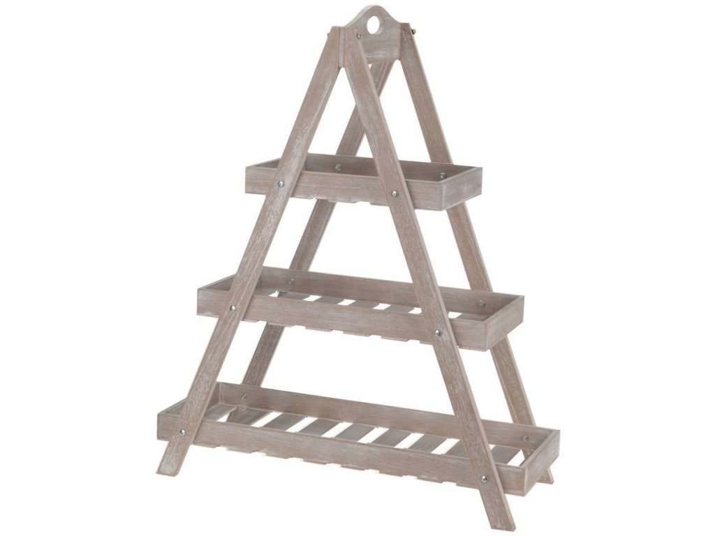 Dřevěná police 60x70x24,50 cm šedá