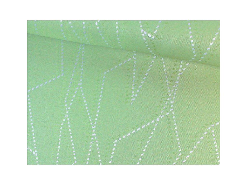 Dekrační látka s leskem šíře 150 cm světle zelená