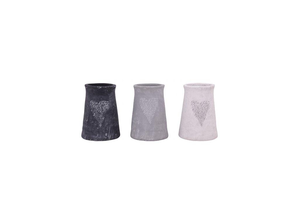Dekorativní keramická váza černá 15x15x20,5