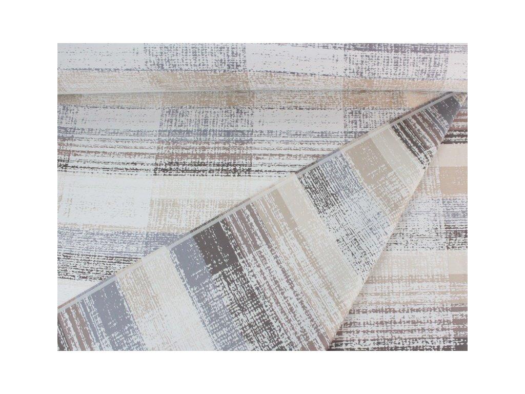 Dekorační látka se vzorem šíře 140 cm béžová/šedá/smetanová