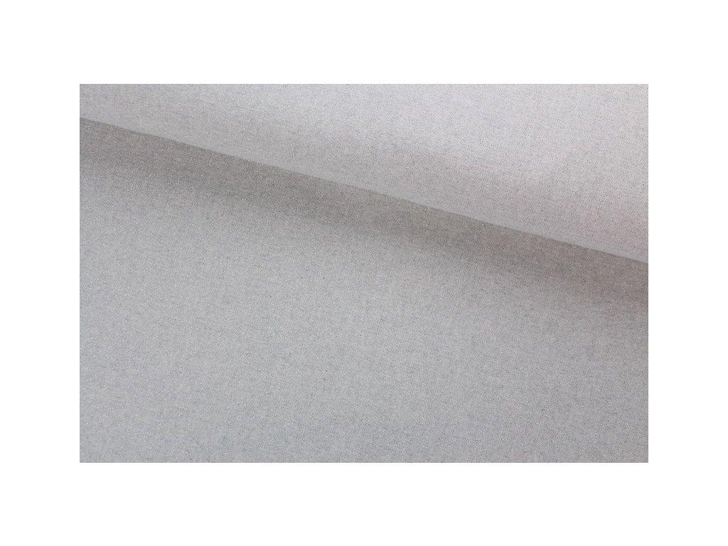 Dekorační látka se stříbrnou nitkou šíře 140 cm přírodní/stříbrná